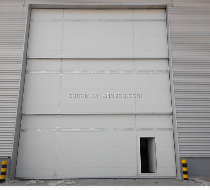 Motorized vertical stable warehouse sliding door