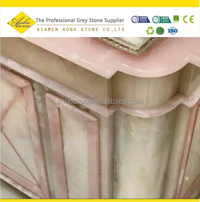 Pink onyx bathroom countertops and vanity tops accessories