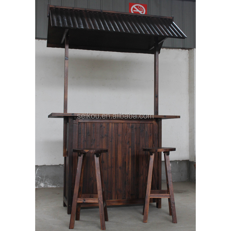 Quality-assured Outdoor Wooden Tiki Bar Sets