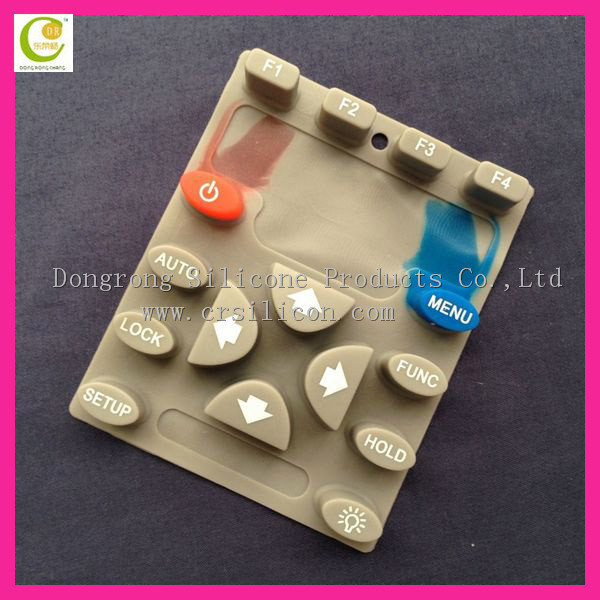 Silicone rubber mobilephone outdoor keypad/ remote control keypads/conductive silicone rubber keypad