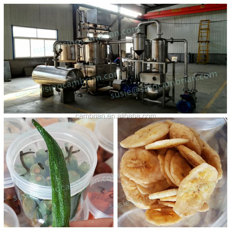 Very crispy okra carrot potato chips green beans vacuum frying machine with less oil consumption
