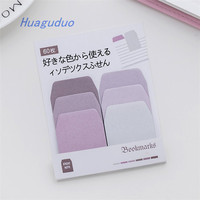 Alibaba online wholesale stationery good paper sticky note office school items creative Gradient color cute sticky notes