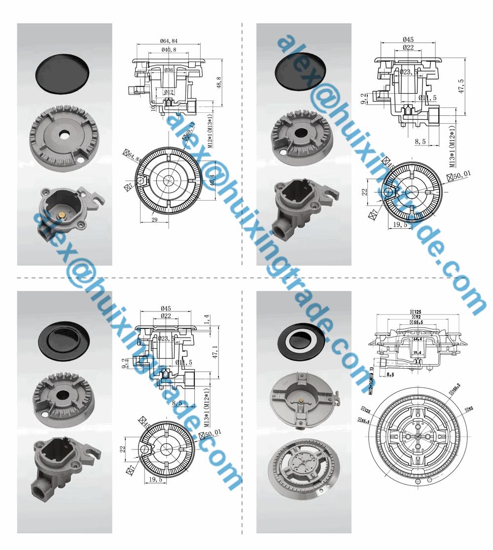 Kitchen Burner Gas Stove Burner /gas Burner Parts - Buy Gas Burner ...