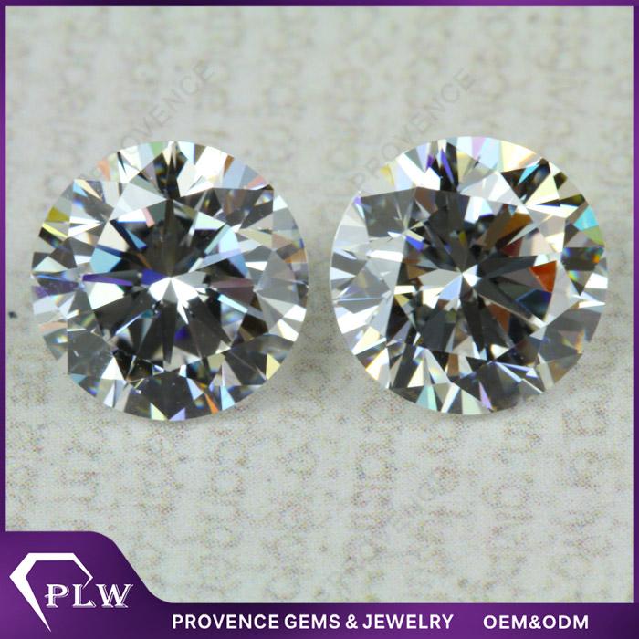 Hot sale 3A grade 1mm cz round diamond cut white cubic zirconia gemstone