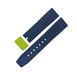 two colors silicone rubber watchband/watchstrap