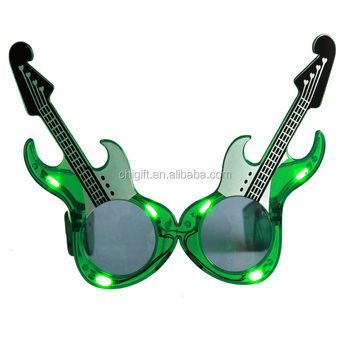 Guitar Sunglasses Plastic Light Up LED Sunglasses
