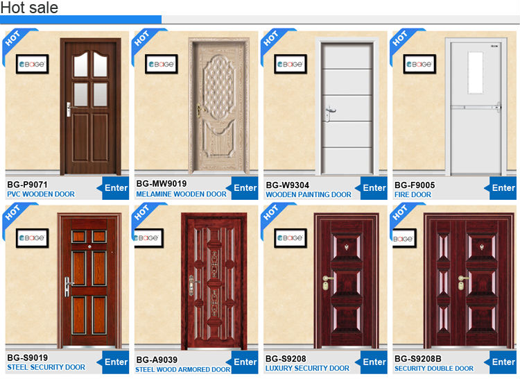 Bg Sw9301 2 Steel Wooden Room Door Design