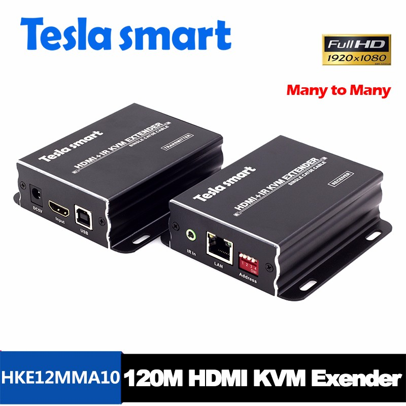 Many to Many RX TX KVM HDMI Extender 100m over IP 1080P with Al