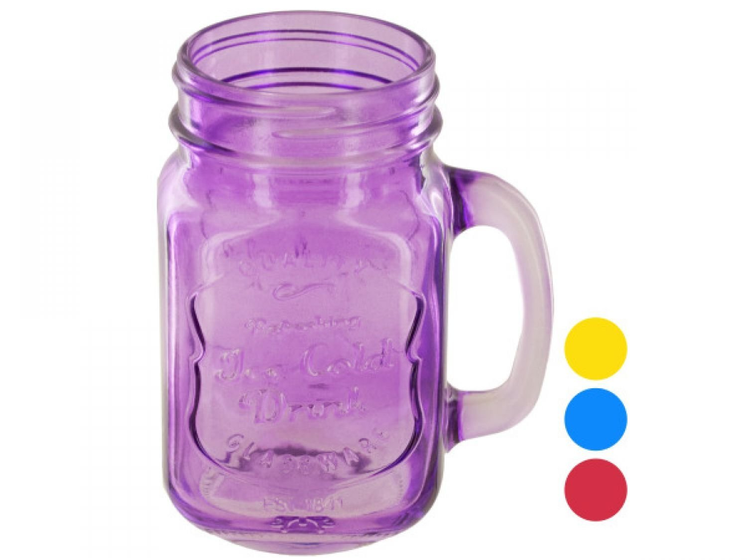 Vintage Style Colored Mason Drinking Jar - Set of 64, [Kitchen & Dining, Drinkware]