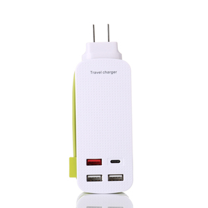 Portable Usa Travel Thailand India quick Type C Power Strip with 3 Usb Port