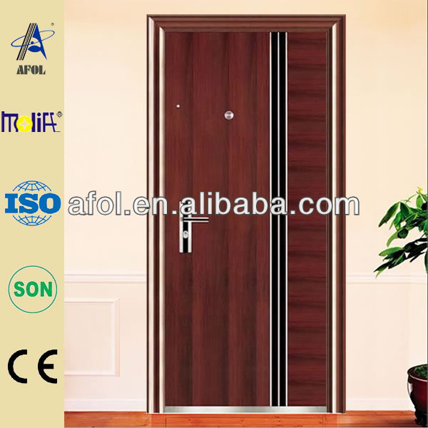 House Modern Single Safety Door Design In Metal