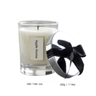 Customized logo luxury aroma large scented candle in glass