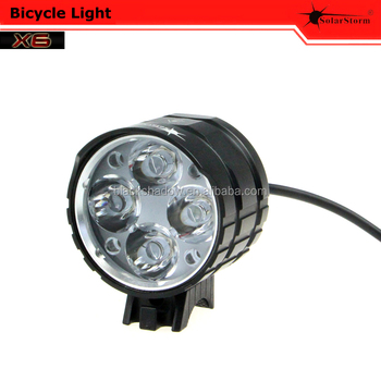 Solarstorm X6 optical lens aluminum front led bicycle light with battery pack