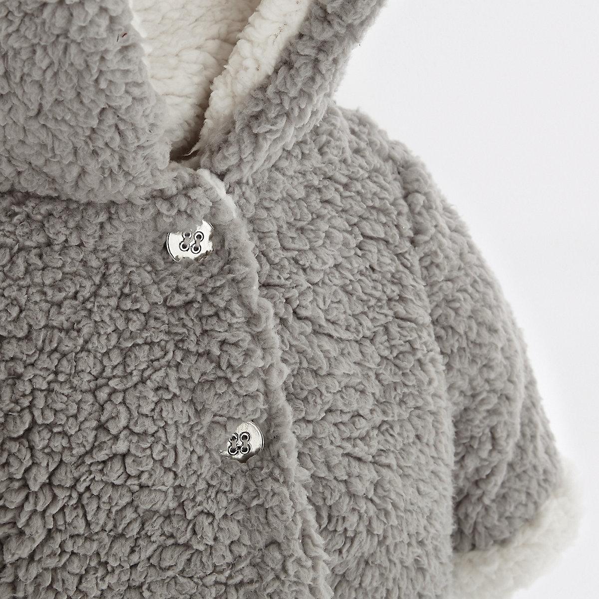2019 baby boys winter thick jacket kids grey fleece warm coat