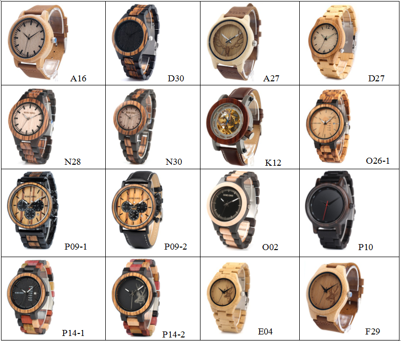 BOBO BIRD timepieces orologio winding stem new arrival original design black color lady watch wood