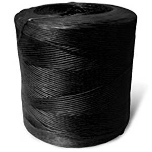 CWC Spiral Wrap Polypropylene Tying Twine - 110 lbs Tensile, Black (Pack of 4 rolls)