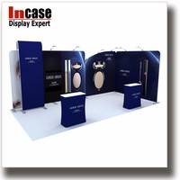 Incase easy assembly booth design tension fabric display for retailer
