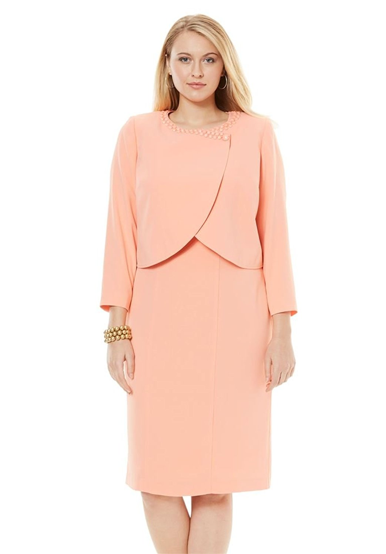 4ff04b03298 Get Quotations · Jessica London Women s Plus Size Beaded Bolero Jacket Dress