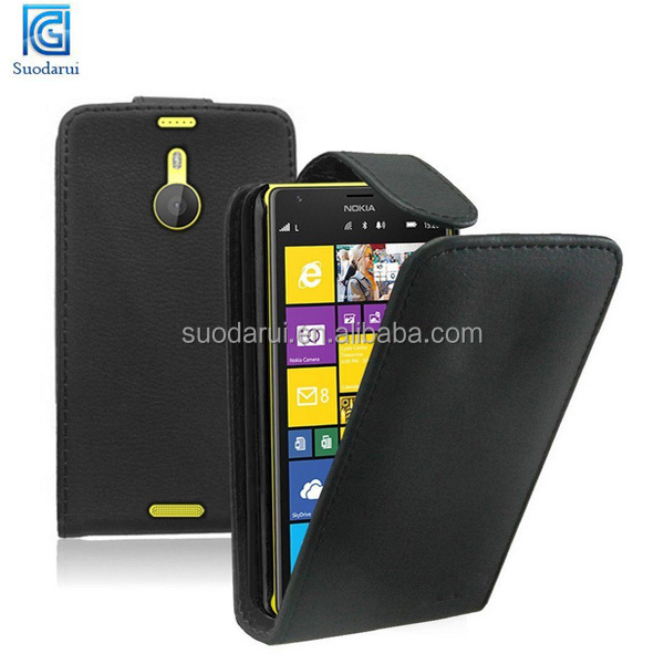 Leather Vertical Flip Case Mobile Phone Cover Pouch for Nokia Lumia 1520
