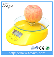 TOYE Digital Kitchen Scale Diet Food Postal 5000g/1g Weight Balance Clock Electronic TY-801