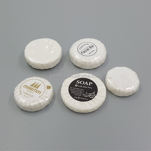 Small round pleat wrapped clean soap for hotel disposable