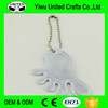 PVC reflective key chain/ pendant environmental reflective double - sided tag pendant
