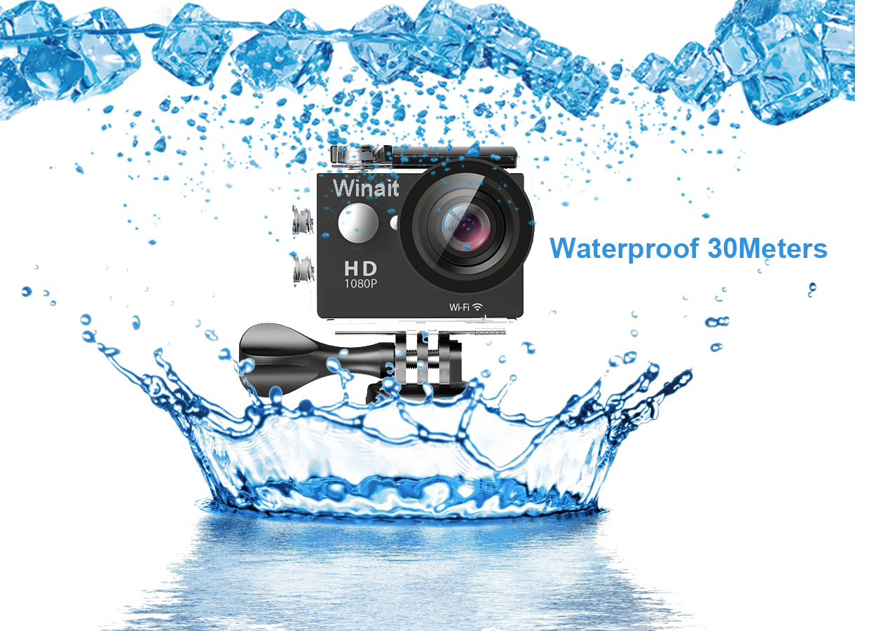 2016 Fabrika Fiyat WiFi Su Geçirmez Spor Kamera 1080 P Full HD 12MP Kablosuz Dalış Mini DV Kamera Kamera Eylem Video Kaydedici