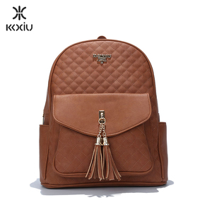 KKXIU manufacturer pu leather fashion ladies new model backpack for women