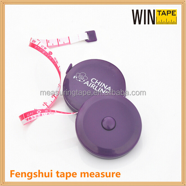 Feng Shui Ruler Bulk Funny Purple Tape Measure with Your Company Logo