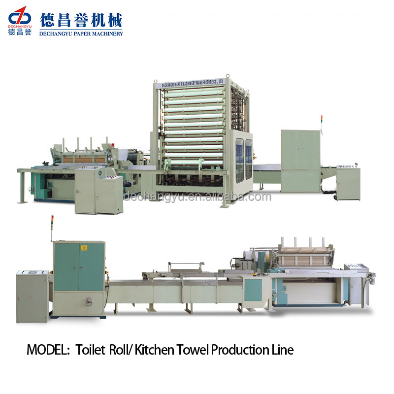DECHANGYU complete line machine for toilet paper
