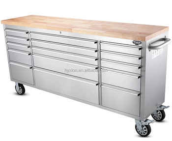 Stainless Steel 72u0026quot; Workbench With Drawers And ...