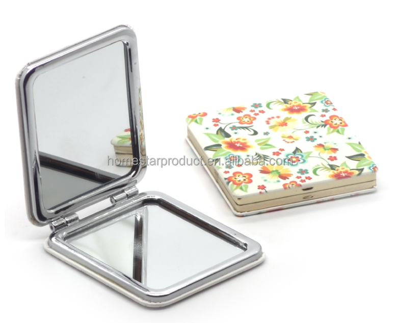 Hot sale cheap promotion gift metal tin hand mirror/ makeup mirror / pocket mirror
