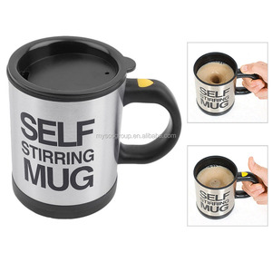 Stainless Steel Self Stirring Coffee Tea Mug Automatic Electric Mixing Cup