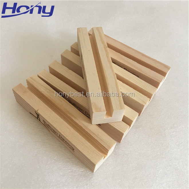 Top Sale Wood Desk Calendar Stand Pine Picture Photo Display Stand
