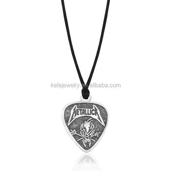 necklaces picks and note music grande collections cut pick necklace hand guitar with namecoins interlocking coin