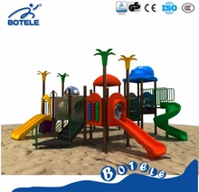China Animal world children playground,plastic playground with sliders ,multifunctional outdoor playground equipment