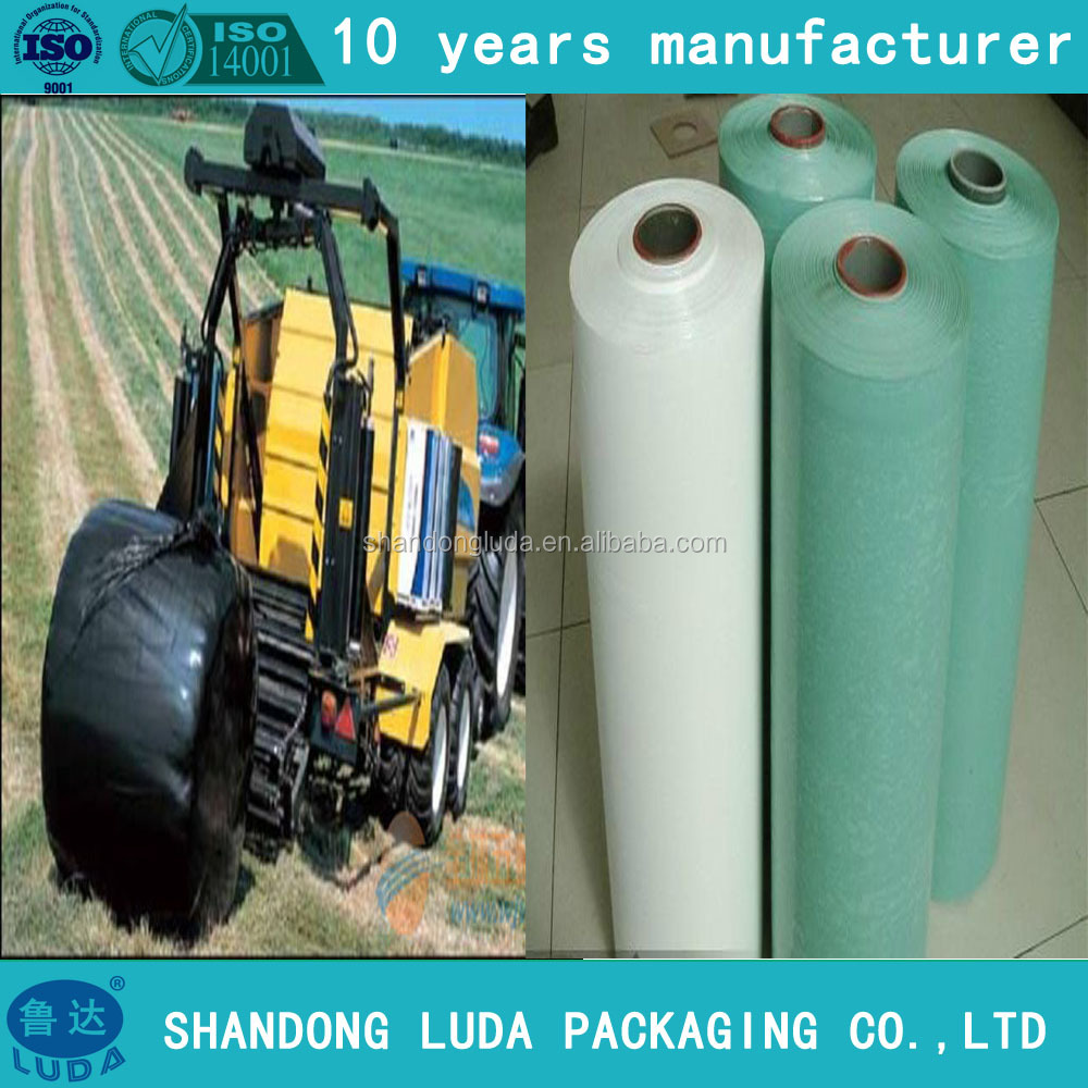 High quality 25mic X 1500m X 750mm LLDPE silage wrap film