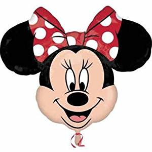 "Disney Minnie Mouse Head Polka Dot Bow 28"" Birthday Party Mylar Foil Balloon"