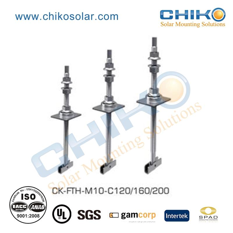 New design solar hanger bolt pv mounting on metal sheet roof