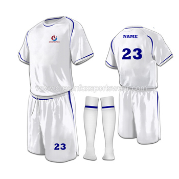 fashion style soccer jerseys football shirt design wholesale 100%polyester  soccer club team wear white 0339621a6