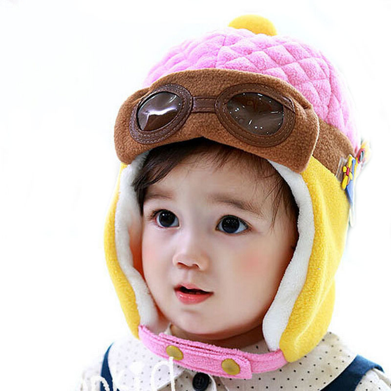 e122408e984e Get Quotations · Hot Sale Toddlers Warm Cap Hat Beanie Cool Baby Boy Girl  Hat Kids Infant Winter Pilot
