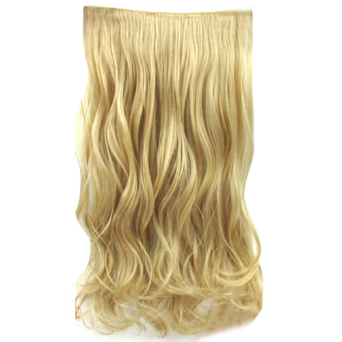 cheap synthetic water wave easy wear one piece clip in hair extension