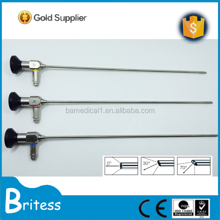 Surgical 4mm rigid reusable cystoscope with CE/ISO certification