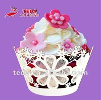 edible flowers cake decorations cupcake wrapper