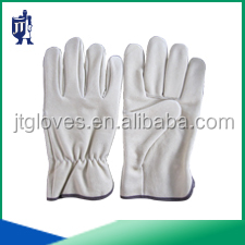 natural cow grain leather working gloves