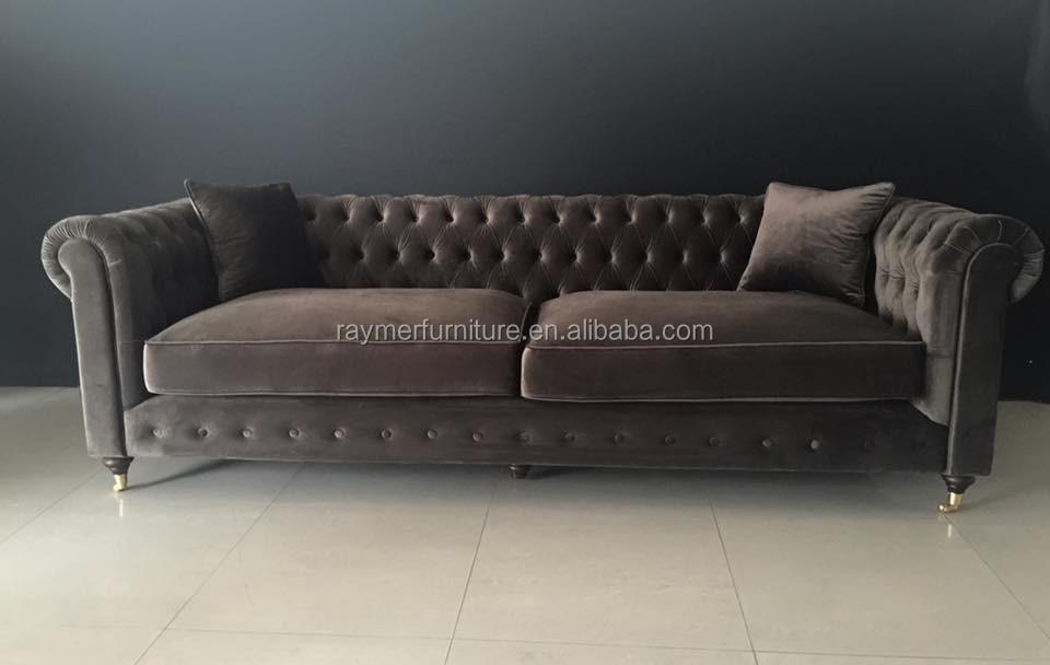 Antique Furniture Living Room Tufted Velvet Chesterfield Sofa Design, View velvet chesterfield