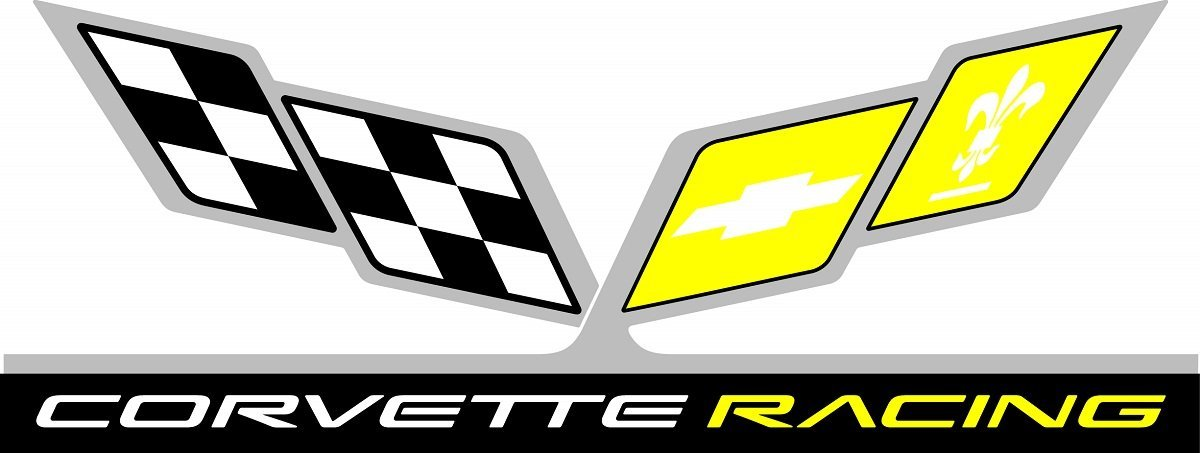Corvette Accessories Unlimited C5 Corvette Racing Logo Yellow/White/Black Large Decal