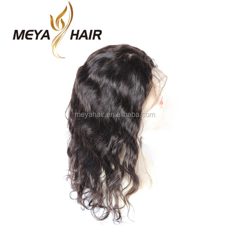 Best Super quality 130% density glueless full lace wig/ lace front wig 100% indian human hair wigs