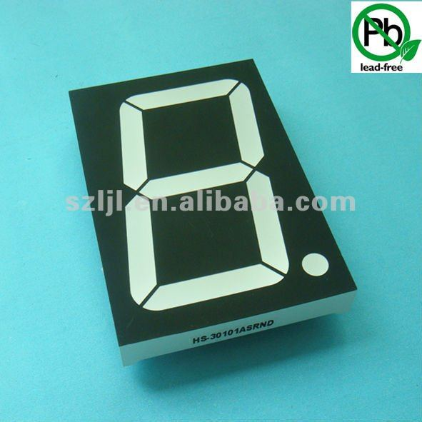 16 inch led single digital display 16 inch Black Face/White Segment led segment display multicolor