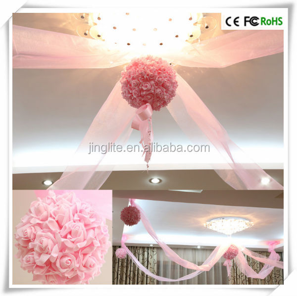 Artificail Colorful Hanging Wedding Decorative Flower Ball